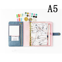 2019 Yiwi Blue Diamond A5 A6 Notebook Diary Schedule Book Planner Diary Loose leaf Binder Cute School Supplies