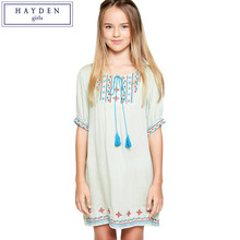 HAYDEN Teen Girl Fashion 2017 Summer New Kids Girls Boho Dress Teenagers Bohemian Chic Clothes Brand Clothing for Children