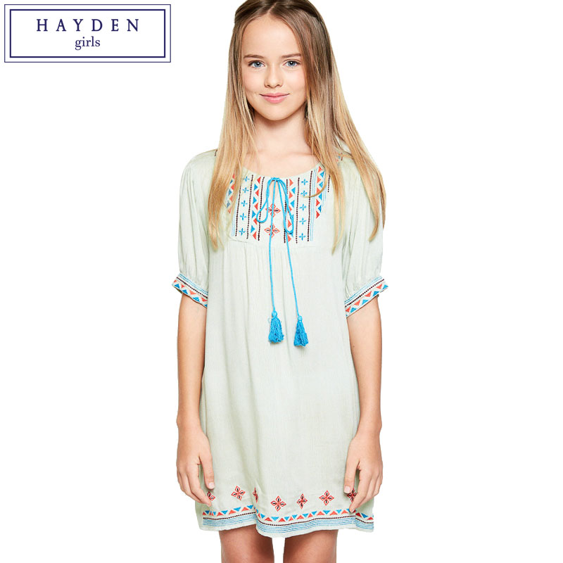 HAYDEN Teen Girl Fashion 2017 Summer New Kids Girls Boho Dress Teenagers Bohemian Chic Clothes Brand Clothing for Children