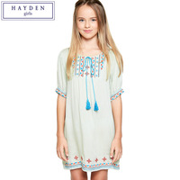 FAMIFAMI Kids Teen Girls Dress Summer 2017 Size 7 12 Years Teenagers New Fashion Brand Bohemian