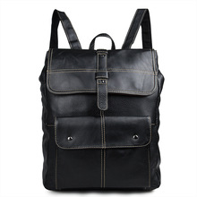 High Quality Genuine Leather Large Backpack Men Laptop Bag Daypack Black / Coffee Casual Business Leather Backpack Men #MD-J7335