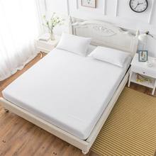 Wholesale solid color sheets fitted bed sheet elastic mattress cover bed linen bedspread polyester cotton soft comfort coverlets(China)