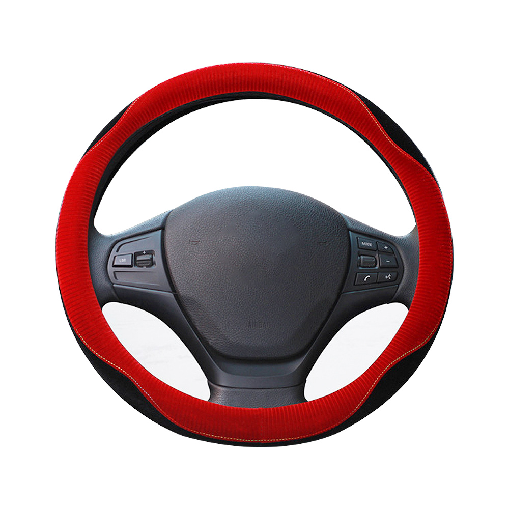 GLCC DIY Car Steering Wheel Cover Colorful Environmental Rubber Plush Covers For Steering Wheel Protector cubierta del volante
