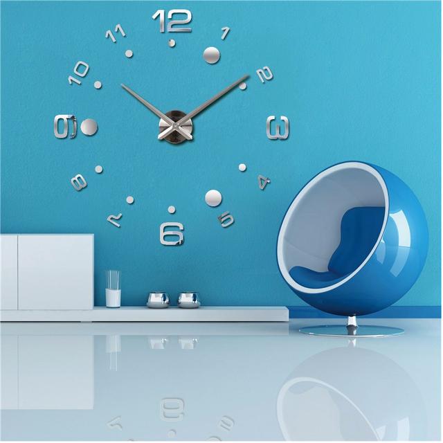 Masi Rui diy wall clock reloj de pared quartz watch living room large decorative clocks modern horloge murale still life sticker