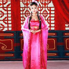 Costume tang suit sexy clothing national fairy purple hanfu costume
