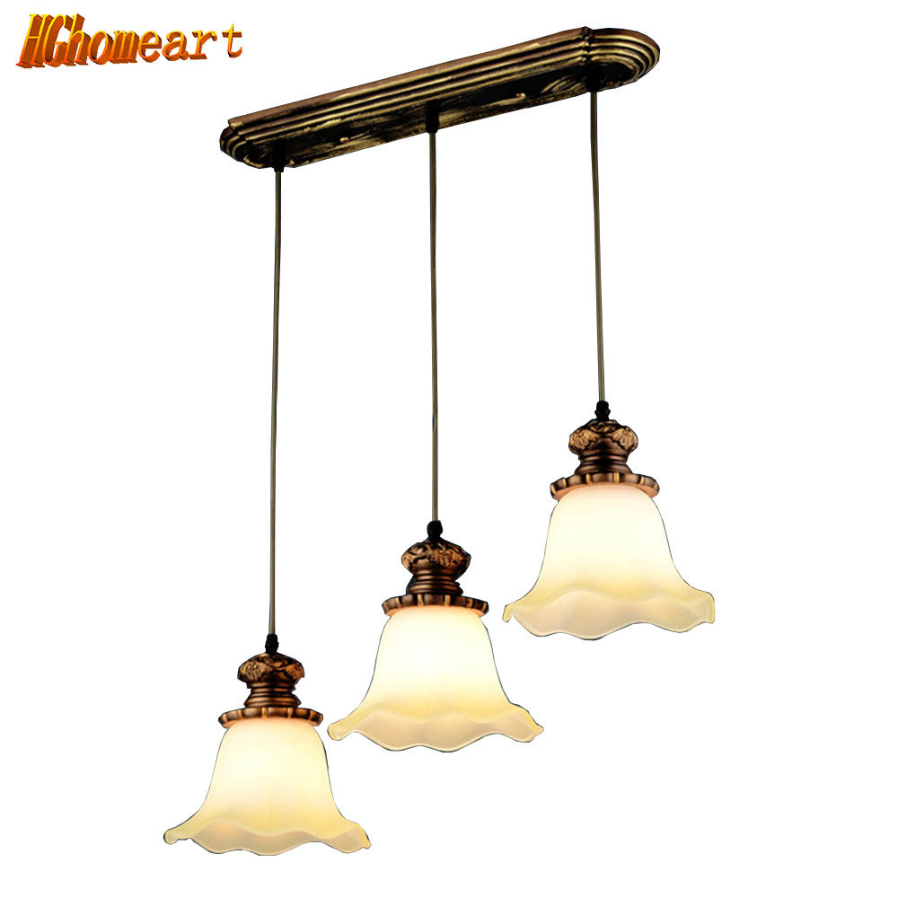 European Retro Restaurant Chandeliers Three Hanging Lamps Personalized Chandelier Simple Dining Room Restaurant Lighting simple chandeliers three creative personality chandelier ceiling lights table bar dining room restaurant lights hanging lamps