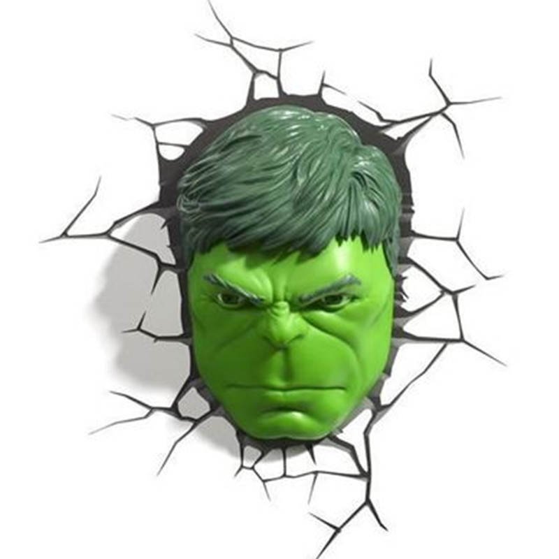 Justice League The Incredible Hulk Savage Hulk Robert Bruce Banner Hulk head and hand 3D With LED Light Wall Lamp 185MM S584 куклы украшения детали bell visits hulk
