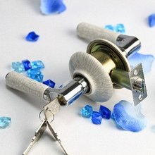 Wholesale- High Quality Copper Quality,Ceramic Knob door lock,Static free  Room door lock,3 sets/lot,Free Shipping