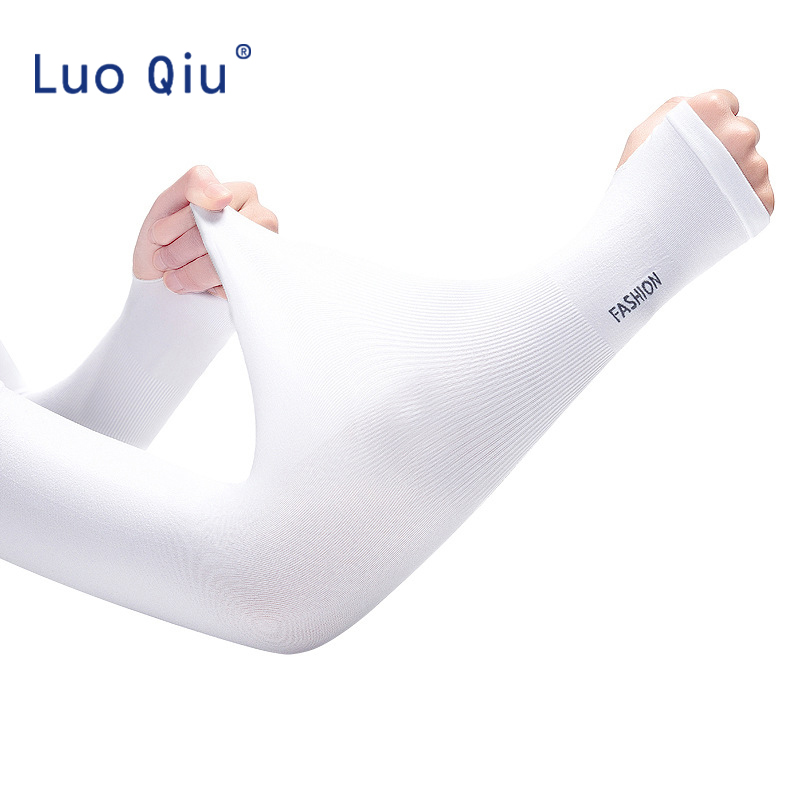 1 Pair UV Protection Long Arm Sleeve Running Golf Cycling Soft Cooling Warmer Gloves For Adult/Child