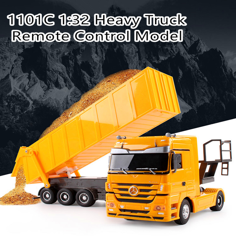 Children Kids Load RC Dump Engineering Truck Toy 2.4G 1:32 Front Back Simulation Light Sound Remote Control Freight Wagon TruckChildren Kids Load RC Dump Engineering Truck Toy 2.4G 1:32 Front Back Simulation Light Sound Remote Control Freight Wagon Truck