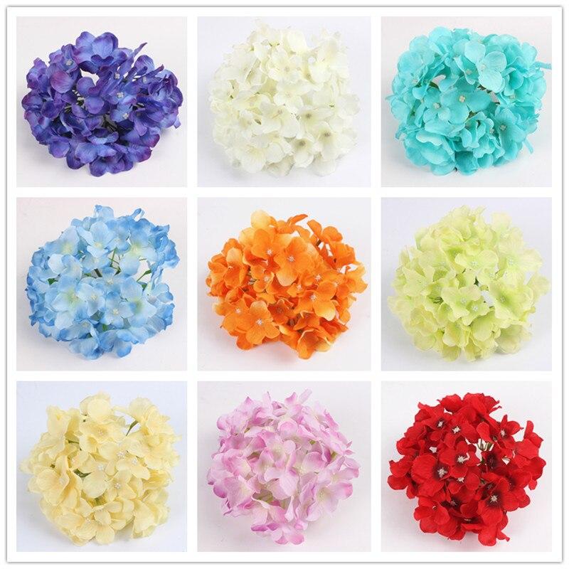 Luksuzni umjetna svila hortenzija cvijet glavu 15cm za DIY vjenčani - Za blagdane i zabave - Foto 4