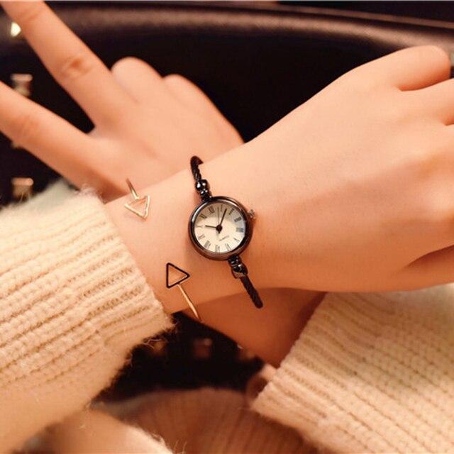2018 Top brand luxury women's fashion bracelet quartz watch women stainless stee