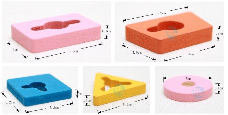 de Correspondência Geométrica Conjunto Bloco De Construção