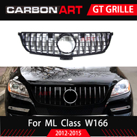 For Mercedes ML Class W166 GT grille Front Grille FOR ML class ML250 W166 front bumper grille ML300 ML350 ml400 ML450
