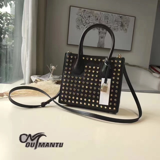 DA1734 M Rock Style Rivet Solid Genuine leather Open Shoulder Bag Wholesale Drop Shipping Free Shipping
