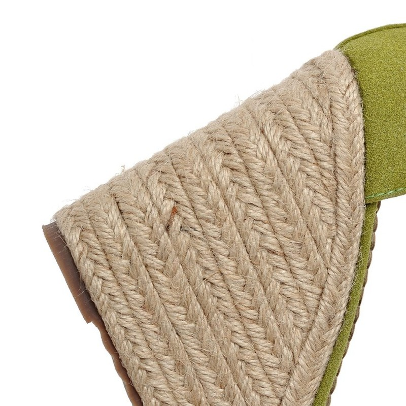 Womens Solid Wedge Sandals Shoes Elevated Wedge Espadrille Classic Espadrille Wedge Sandals Summer Parties Shoes in High Heels from Shoes