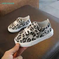 Chaussures enfants doux Chaussure Enfant Sport filles chaussures nouveau automne printemps léopard enfants baskets respirant enfants chaussures