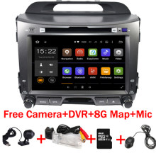 "8 ""HD android 6.0 coches reproductor de dvd gps 2 din radio de coche video gps para KIA sportage 2014 2011 2012 2013 2015 gps dvd coche(China)"