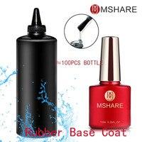 MSHARE Rubber Base Coat Fast Dry Varnish Coat Soak Off UV Gel Polish Gel Salon Nail Gel Art Long Lasting 1kg