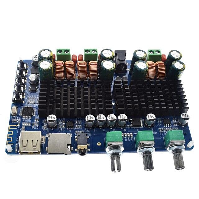 TPA3116 50 Вт + 50 Вт Bluetooth USB TF декодер 2,1 канала цифровой усилитель мощности плата 2,1 цифровой усилитель мощности