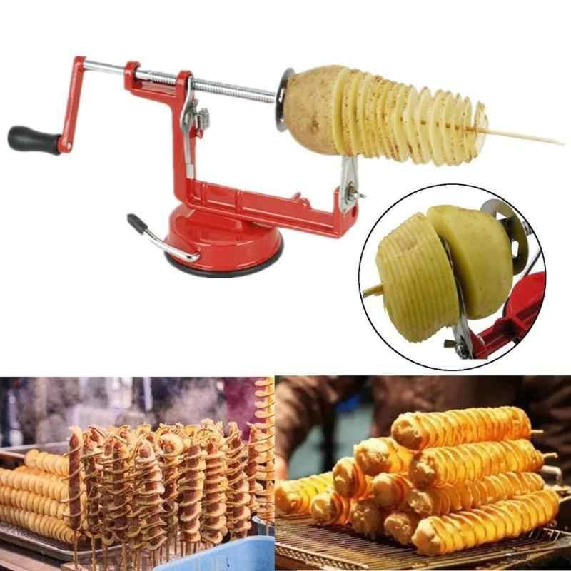 Нож для картофеля из нержавеющей стали картофельный Твистер кухонные аксессуары инструмент для спиральной нарезки картофеля ручная резальная машина спиральные чипы резак