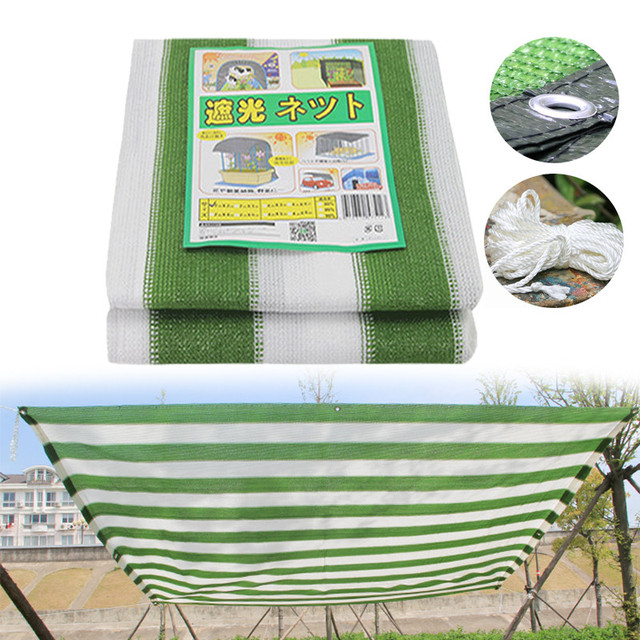 Green Sun Shelter Outdoor Mesh Beach Shade Net with Hang Hole Camping Garden Greenhouse Car Cover Net Wedding Party Decoration
