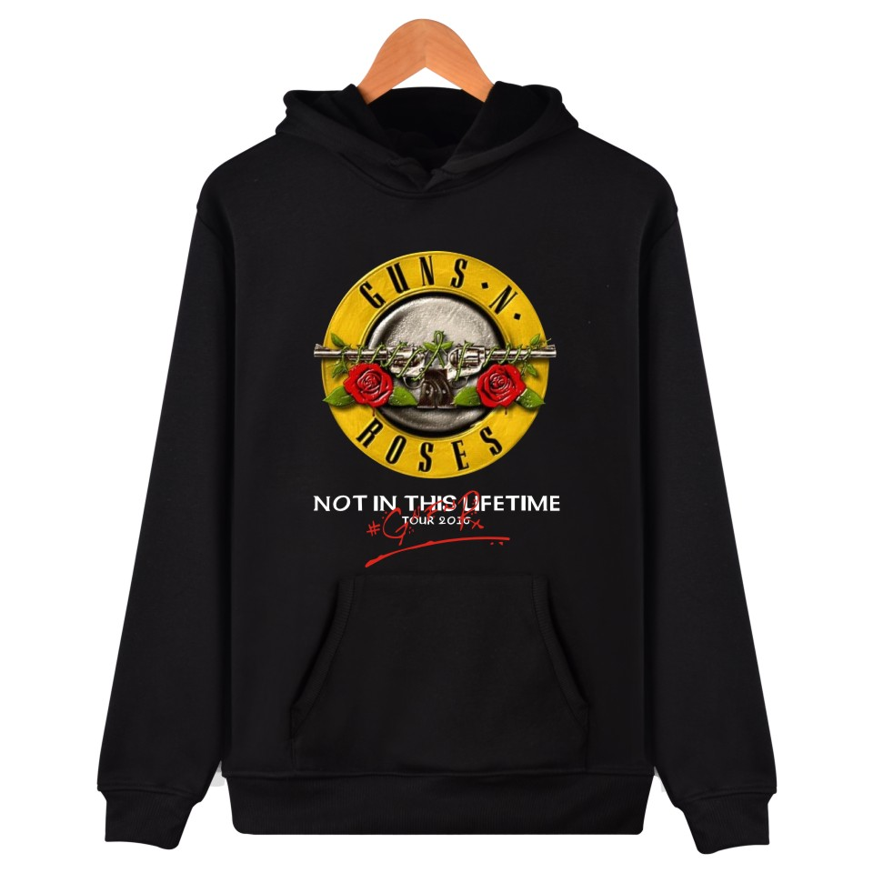 Mens Sweatshirt 2019 New GUNS N ROSES Hoodies Men Women Sweatshirts Autumn Winter Punk Skull Rose Design Tracksuit Tops Clothes