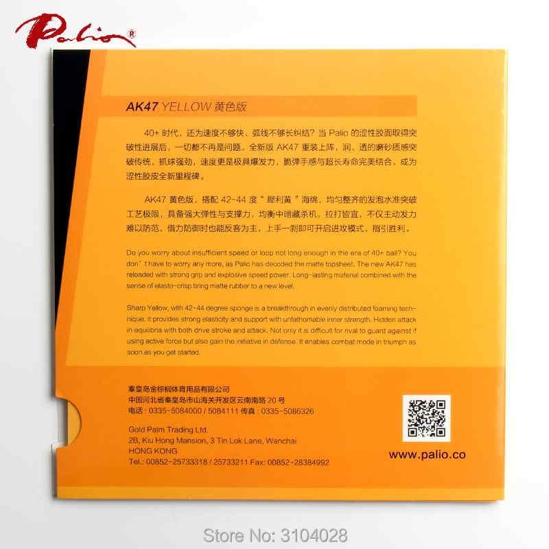 Palio resmi 40 + sarı Ak47 masa tenisi kauçuk sarı sünger döngü ve hızlı saldırı için yeni stil raketi oyunu ping pong