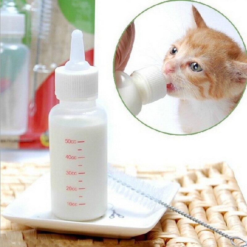 Portable Dog Cat Pet Puppy Drinker Fresh Water Bottle: 1set Portable Pet Cat Dog Feeding Bottle Suit Water