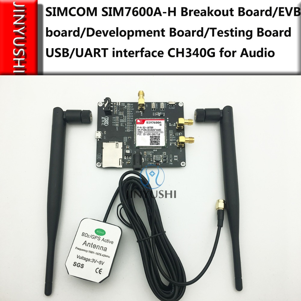 SIM7600E-H/SIM7600A-H/SIM7600SA-H/SIM7600JC-H Breakout Board/EVB board/Development Board/Testing Board USB/UART CH340G for Audio
