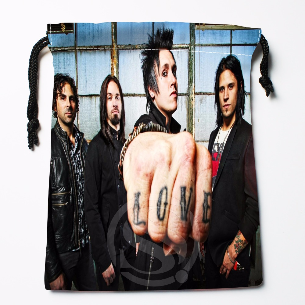 Fl-Q80 New Music Papa Roach &2 Custom Logo Printed  Receive Bag  Bag Compression Type Drawstring Bags Size 18X22cm 711-#F80