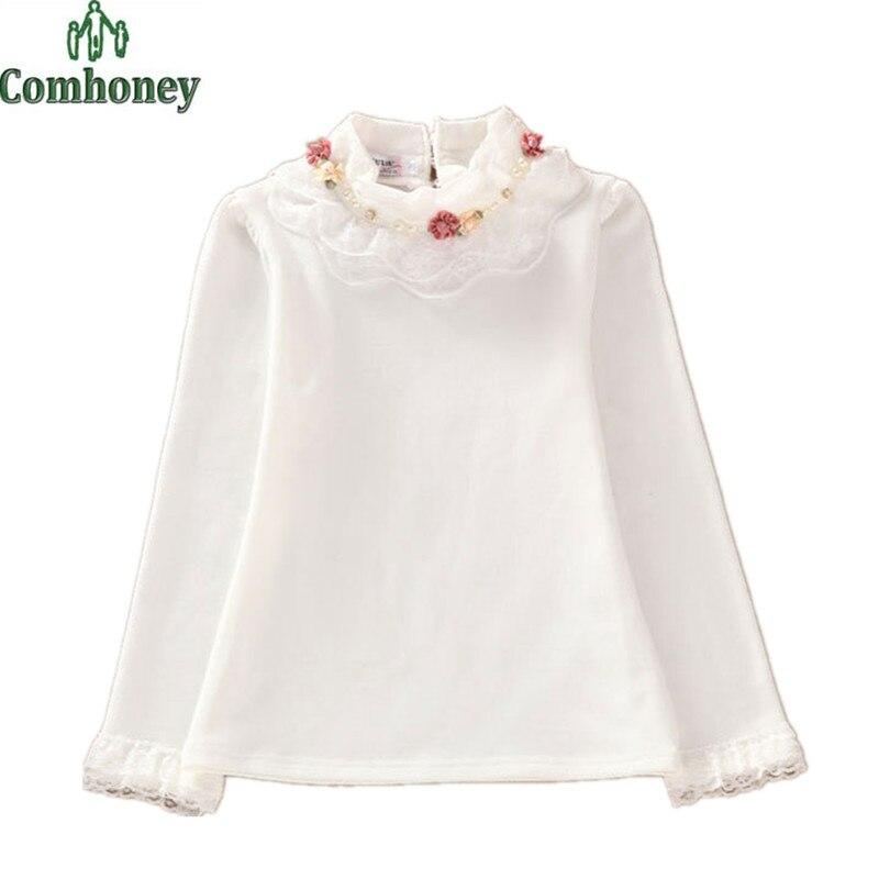 Girls Blouse Shirts For White School Children Blouse Kids