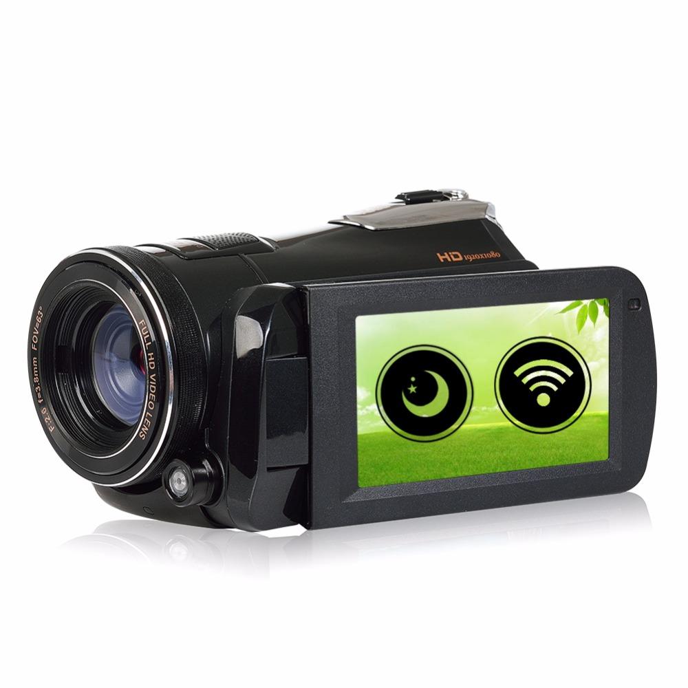 Marvie LED Fill Lights Portable 24.0 MP 3.0 Screen DV Camera FHD Camcorder Digital Video Recorder 16X Zoom IRNight Vision Cam 2