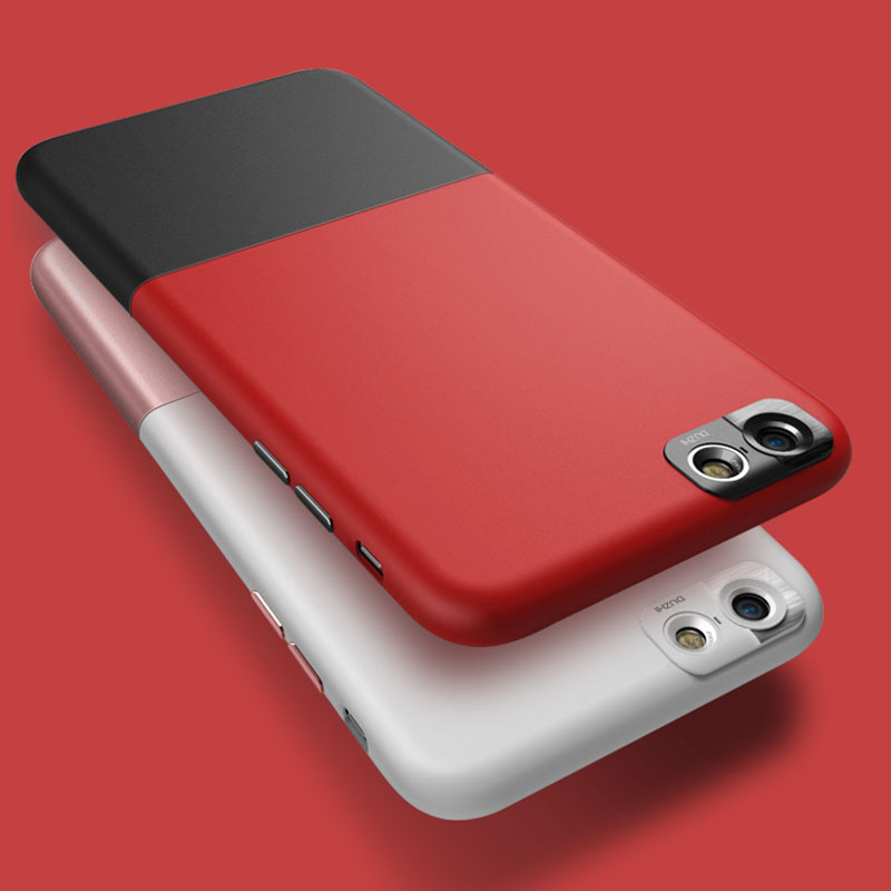 Цена за Двойной цвет Ультра тонкий Телефон случаях для Apple iPhone 6 случае 6 S плюс Жесткий задняя крышка Простой 2in1 Контрастность цвет крышки телефона