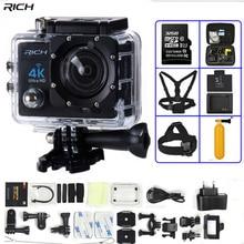 REICHE Action Kamera 4 Karat Ultra HD WIFI 1080 P/30fps 2,0 LCD 170 linse Gehen pro Stlye Tauchen Wasserdichte 30 Mt DV Helmkamera Sport kamera