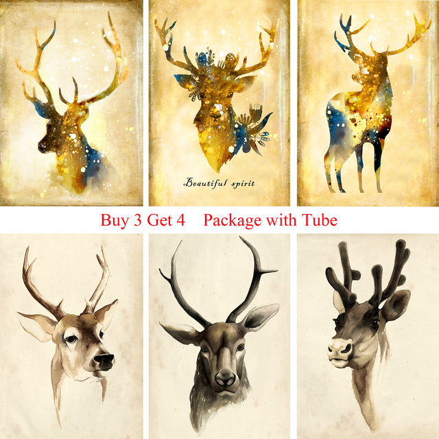 Nordic Style Posters Wall Sticker High Definition White Coated Paper ...