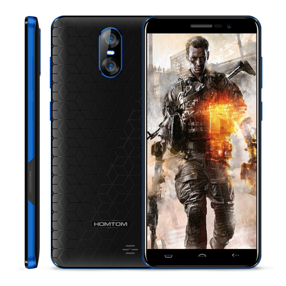 HOMTOM S12 5.0 18:9 Screen Smartphone MTK6580 Quad Core 1GB RAM 8GB ROM 2750mAh Dual back Camera Android 6.0 3G Mobile Phone