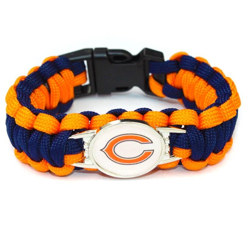 Американский футбол Chicago Bears Зонтик Команда jewelry браслет открытый побег выживания Шарм Браслет