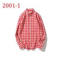 Spring Long Sleeve Plaid Flannel Men Shirt Dress Shirts Mens Casual Shirts 2001