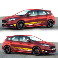 Car Styling Racing Sticker Body Waist Car Stickers Door Side Scratches Decorative Decals For Ford VW