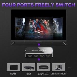Image 5 - Przełącznik HDMI 4K 60HZ HDR HDMI 2.0 Splitter 4 Port HDMI przełącznik Dolby dźwięk 3.5mm jack łuku sterowanie ir dla PS3 PS4 projektor hdtv