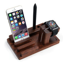 100% Natural Bamboo Charging Dock Station Bracket Cradle Stand Holder For Apple iPhone 6 Plus/6/5S/5C/5/4S/4/For i watch iPad