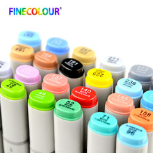 Finecolour EF100 Art Supplies Alcohol Based Ink Calligraphy Marker Double Headed Brush Art Markers For Drawing 240 Colours 1pcs(China)