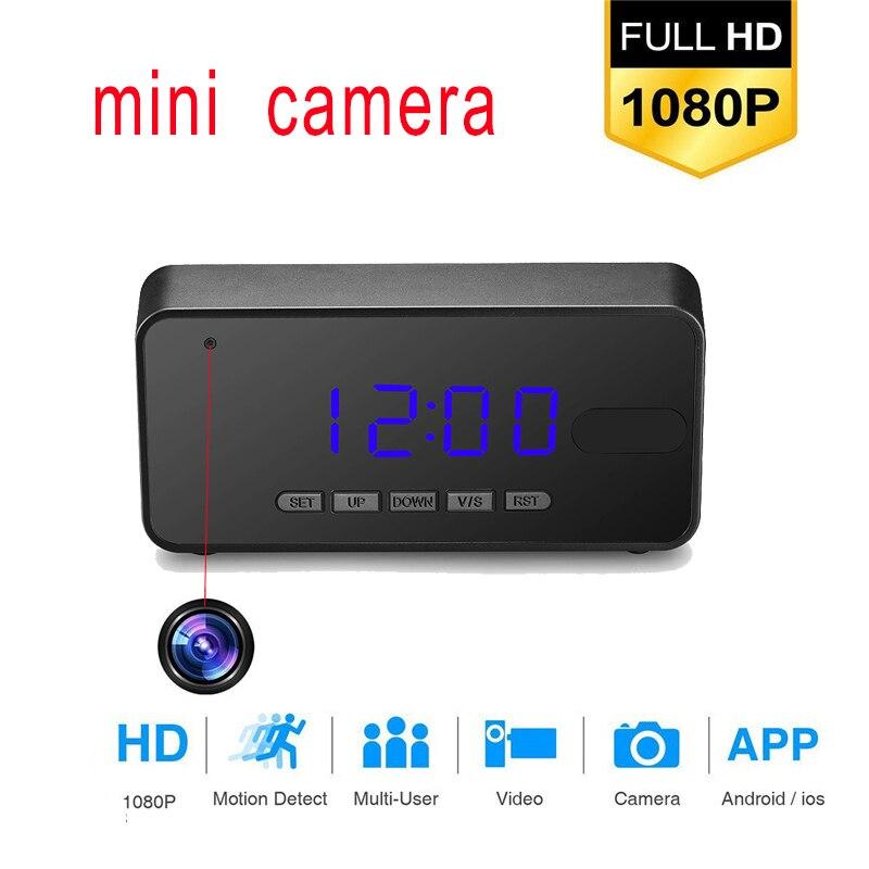 Mesa Mini Câmera Full HD 1080 p Noite IR Visão Relógio Da Câmera DVR Detecção de Movimento Preciso Inteligente Despertador Cam escondido cartão TF