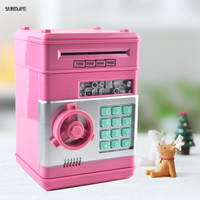 Bank Mini Atm Money Box Safety Electronic Password Chewing Coins Cash Deposit Machine For New Year