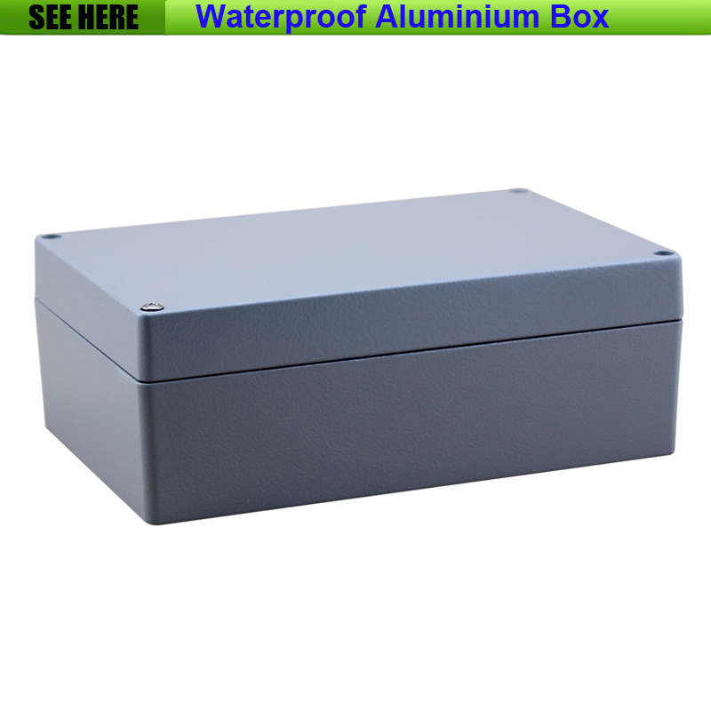 Free Shipping  1piece /lot Top Quality 100% Aluminium Material Waterproof IP67 Standard aluminium electronic box 222*145*80mm 1 piece free shipping aluminium material