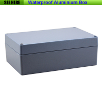 Free Shipping 1piece Lot Top Quality 100 Aluminium Material Waterproof IP67 Standard Aluminium Electronic Box 222