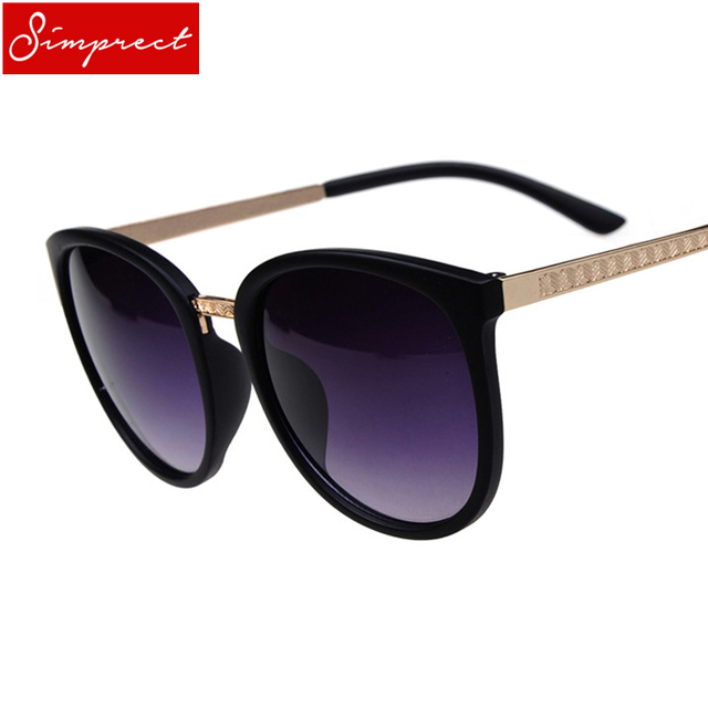 fd50eafd1f2f SIMPRECT Oversized Round Sunglasses Women Brand Designer Luxury Fashion  Eyeglasses Big Shades Sun Glasses Retro Zonnebril Dames