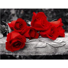 DIY Diamond Painting Flowers full square Diamond Embroidery Red Rose Diamond Resin Mosaic Wall Pictures Handmade Needlework square resin full color filter for dslr red