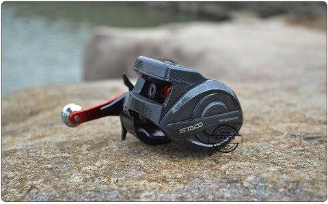 de pesca eletronico linha pesca roda carretel dumping